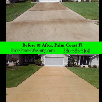 Power Washing Driveway Palm Coast