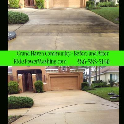 Power Washing Grand Haven Driveway
